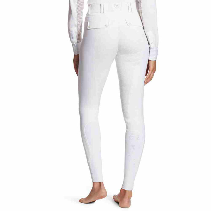 Ariat Womens Tri Factor Grip Full Seat Breech - White - RedMillsStore.ie
