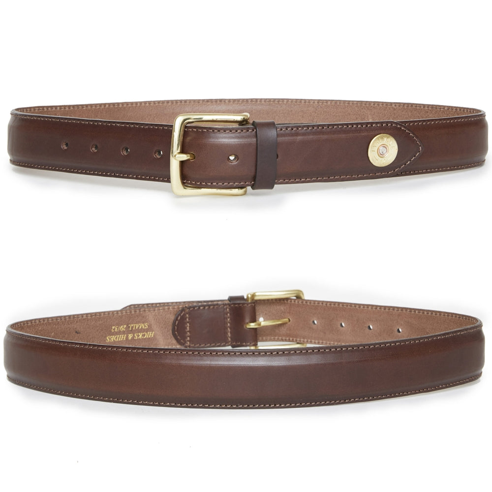 Hicks & Hide Broadway Tip Field Belt Brown Leather