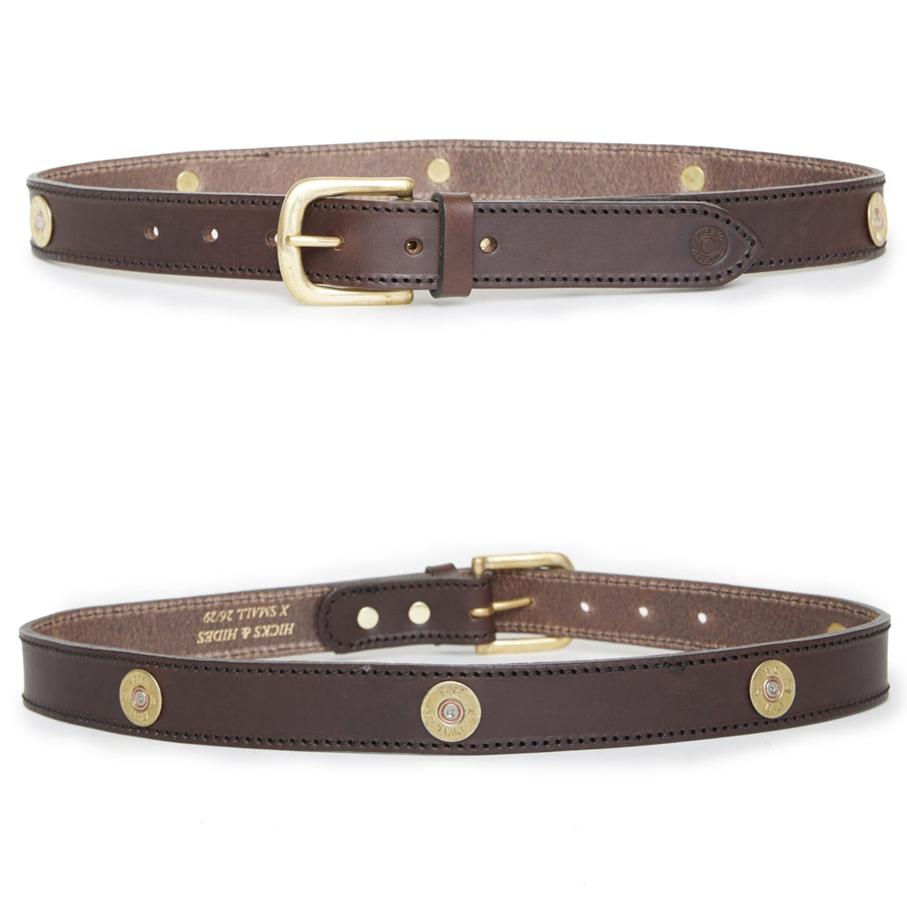 Hicks & Hide Burford Multi Farmer Belt Brown Leather