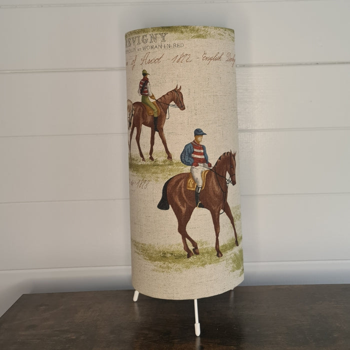 Crafts by Ger Handmade table lamp in vinatge racing print
