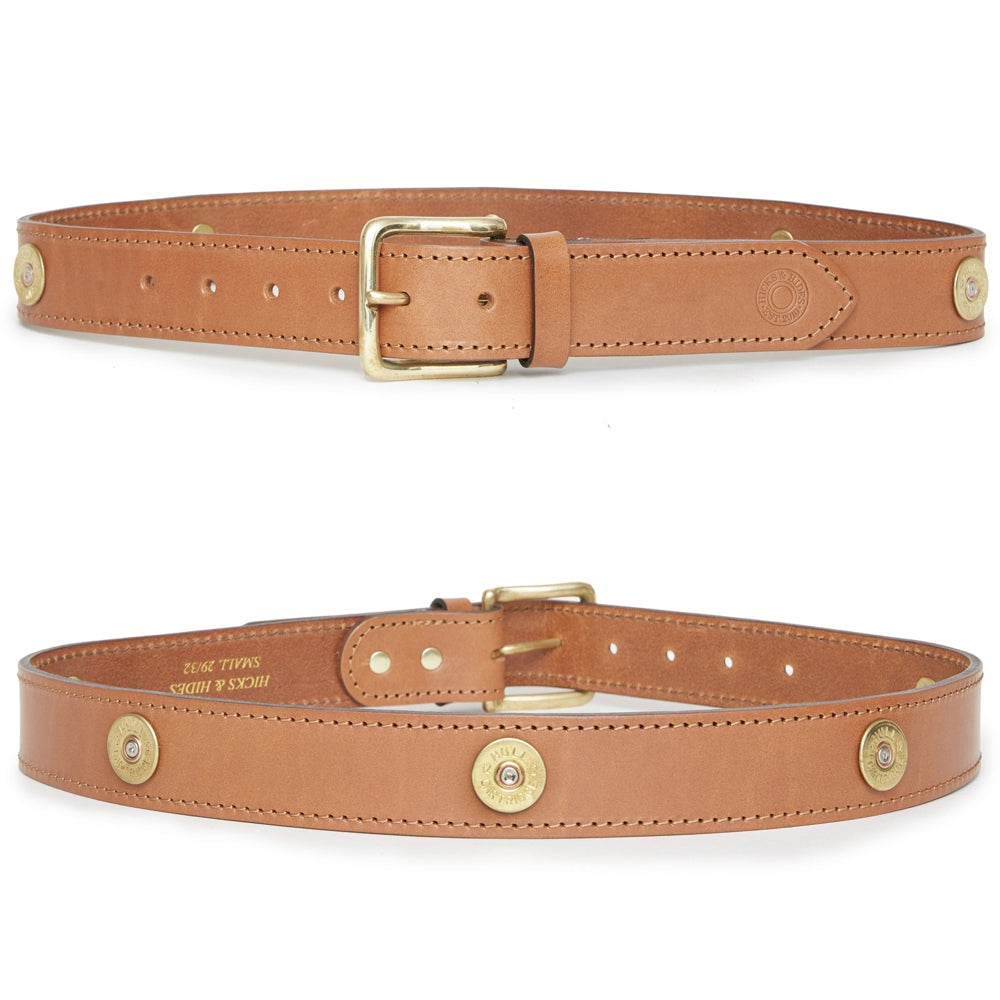 Hicks & Hide Campden Multi Farmer Belt Tan Leather