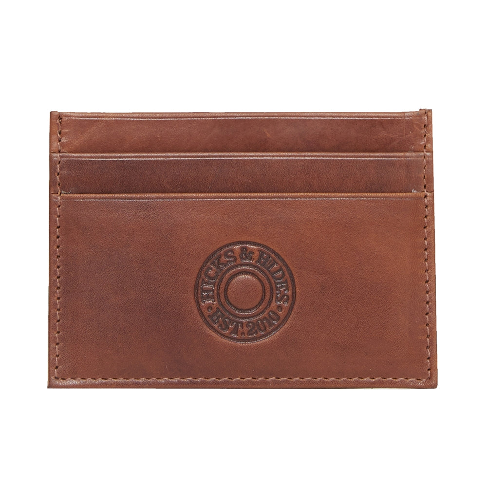 Hicks & Hide Cardholder Cognac Leather