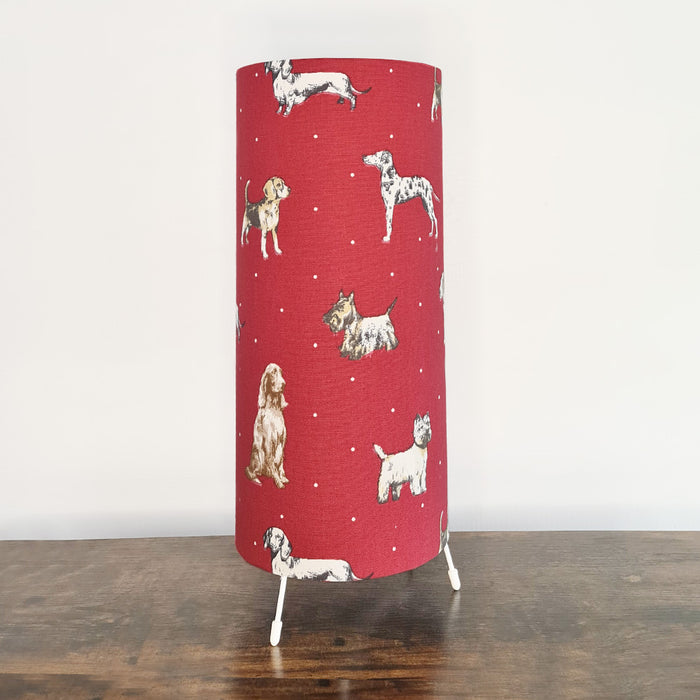 Crafts by Ger Handmade Table Lamp in Dog Print