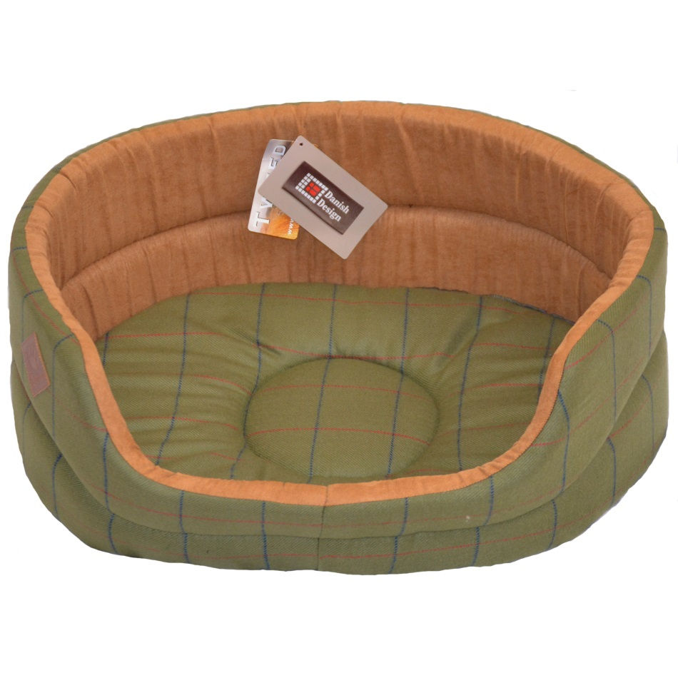 Danish Designs- Green Tweed Slumber Bed - RedMillsStore.ie