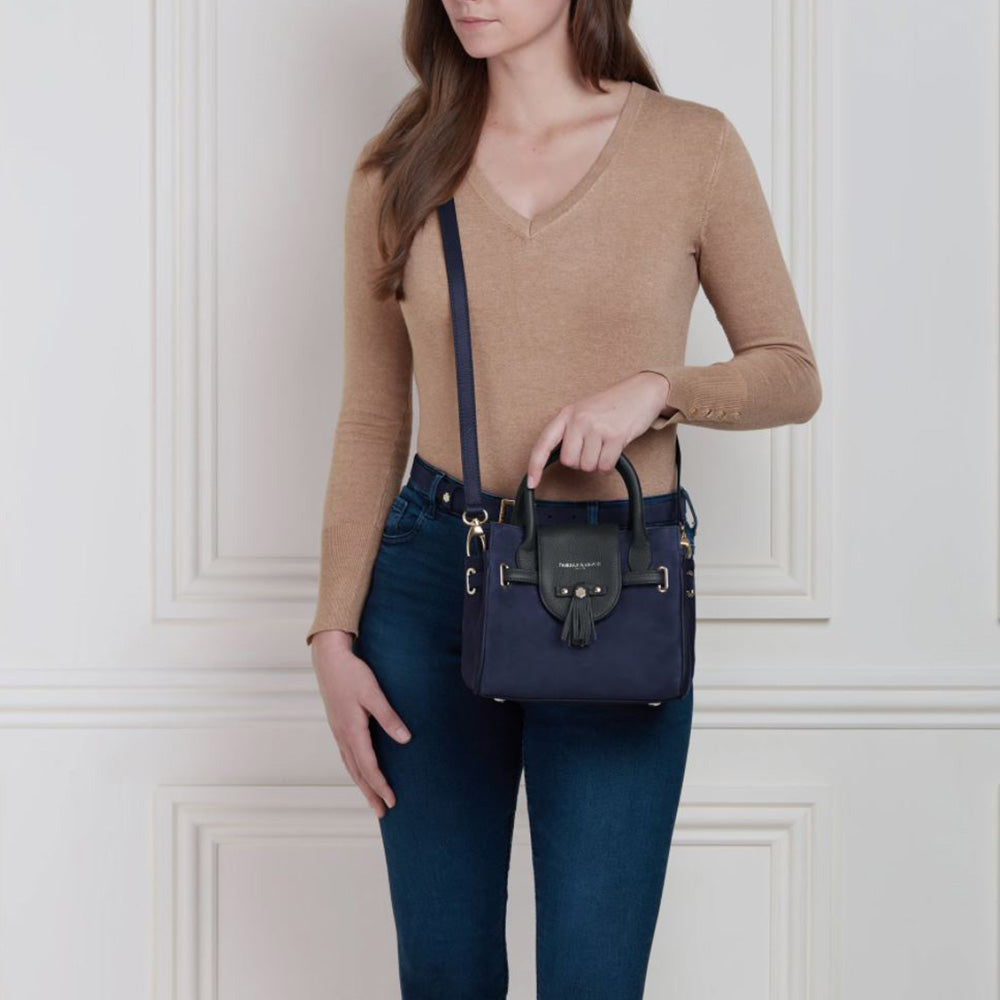 Fairfax & Favor Mini Windsor Handbag in Navy