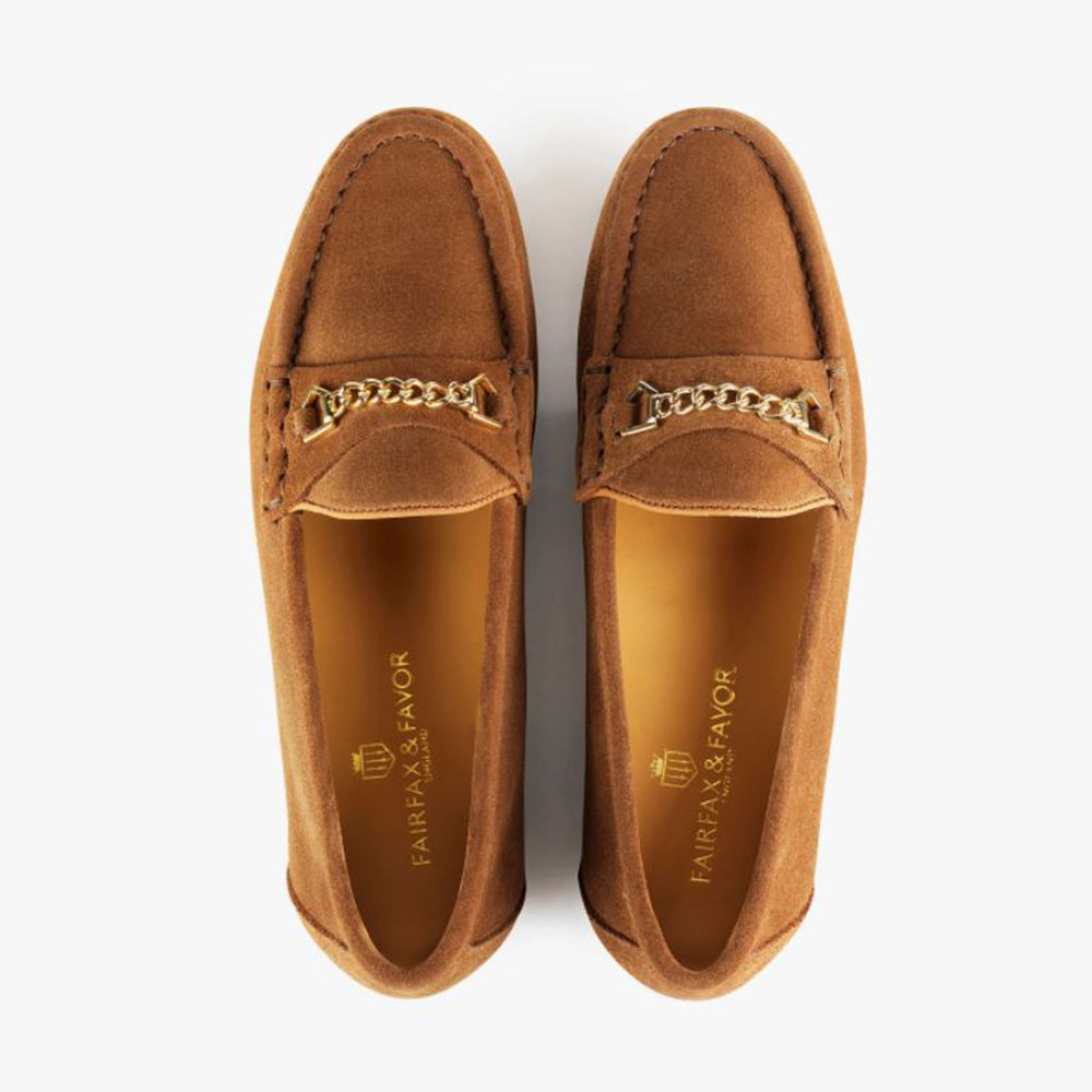 Fairfax & Favor Women's Apsley Suede Loafer in Tan