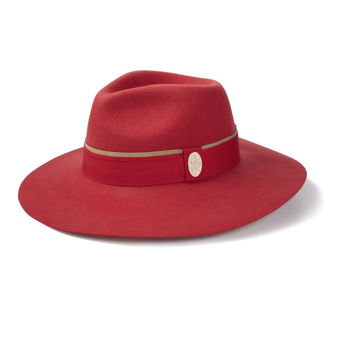 Hicks & Brown Oxley Fedora in Berry