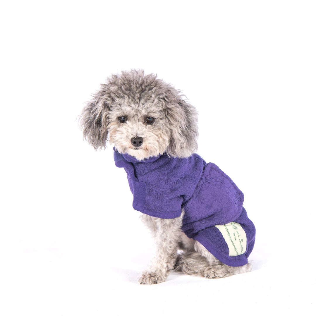 Ruff and Tumble dog drying coat in heather