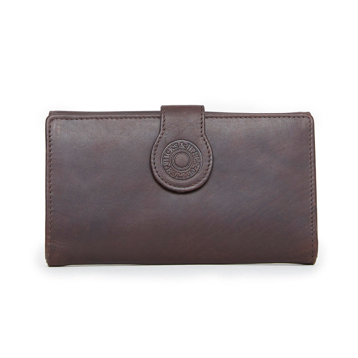 Hicks & Hide Hidcote Cartridge Purse Brown Leather