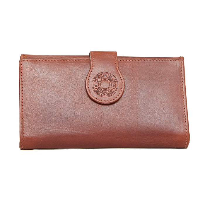 Hicks & Hides Hidcote Cartridge Purse Cognac Leather