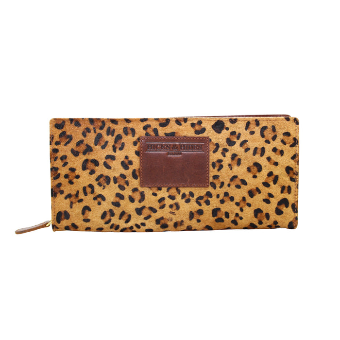 Hicks & Hide Safari Zip Around Purse Leopard