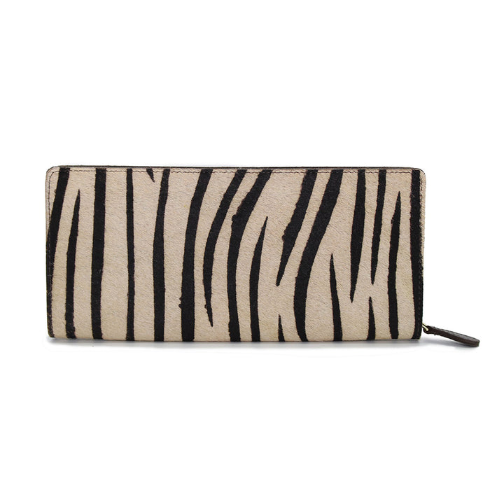 Hicks & Hide Safari Zip Around Purse Zebra