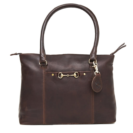 Hicks & Hide Hidcote Bit Handbag Brown Leather - RedMillsStore.ie