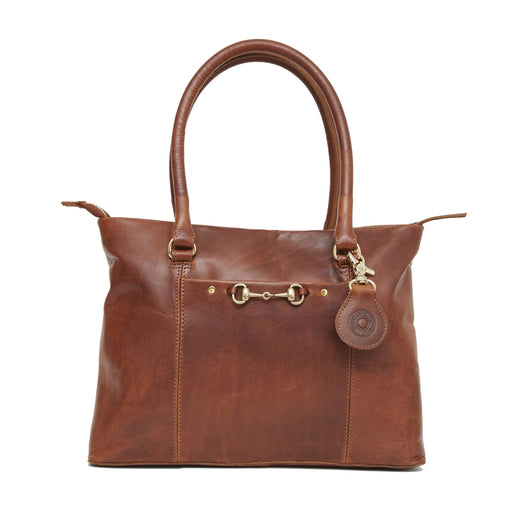 Hicks & Hide Hidcote Bit Handbag Cognac Leather - RedMillsStore.ie