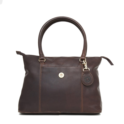 Hicks & Hide Hidcote Cartridge Handbag Brown Leather - RedMillsStore.ie