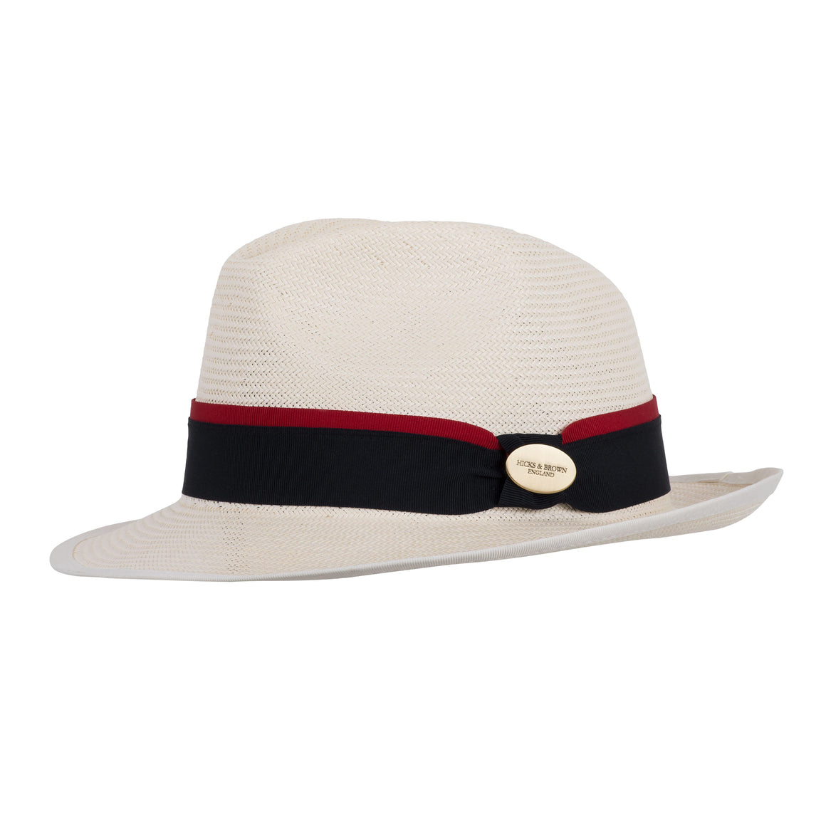 Hicks and Brown The Holkham Panama (Navy with Red ribbon)