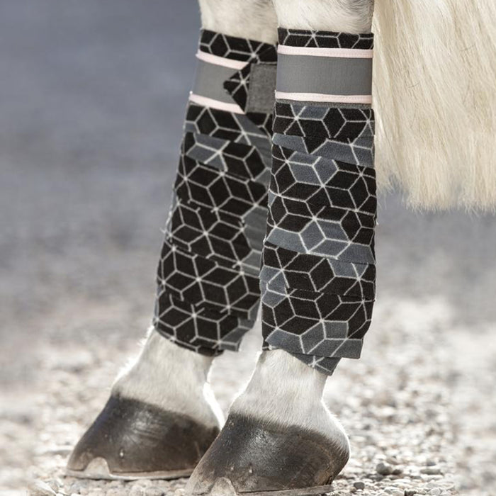Horseware Fashion Fleece Bandages in Hexagon Print