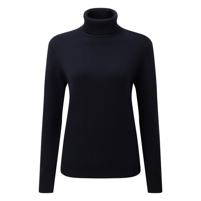 Schoffel Women's Merino Roll Neck Navy