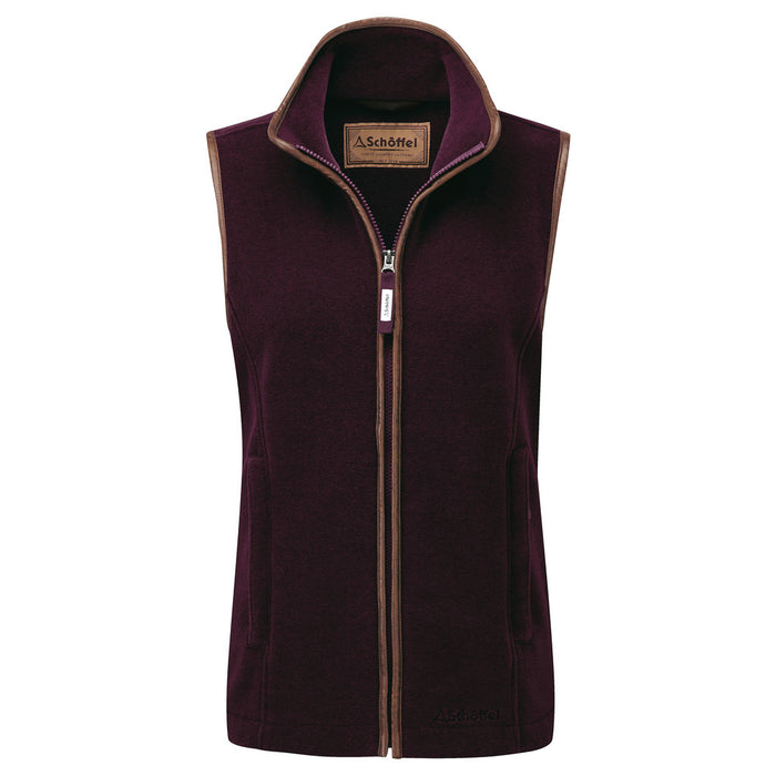 Schoffel Lyndon Fleece Gilet Fig - RedMillsStore.ie