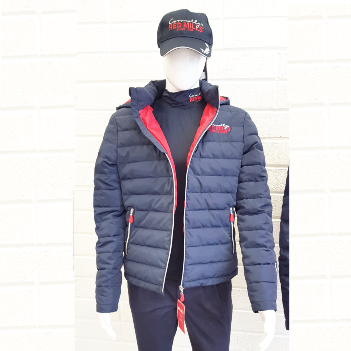 RED MILLS mens padded jacket with detachable hood