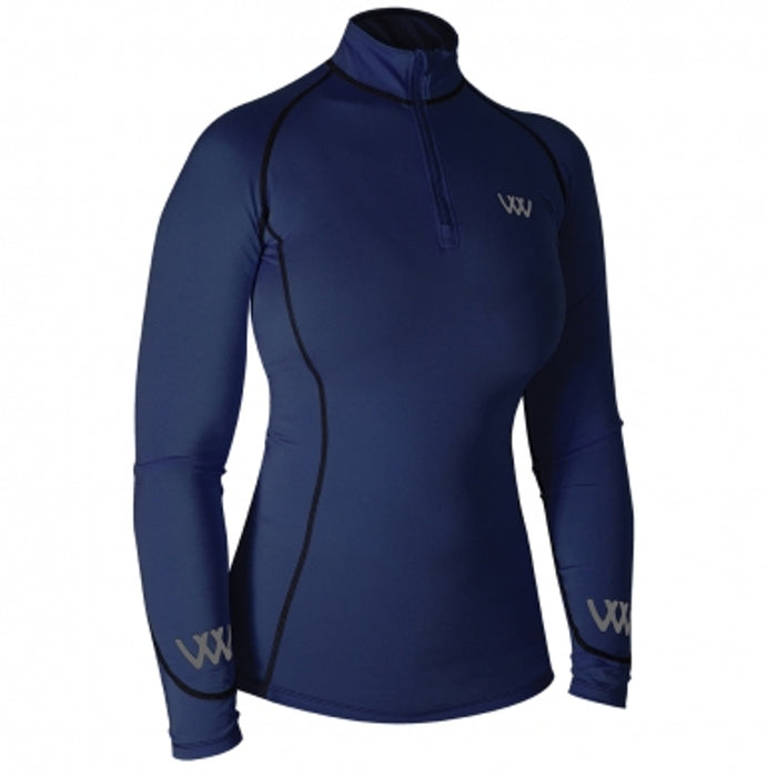 Woof Wear Women's Performance Riding Shirt in Navy