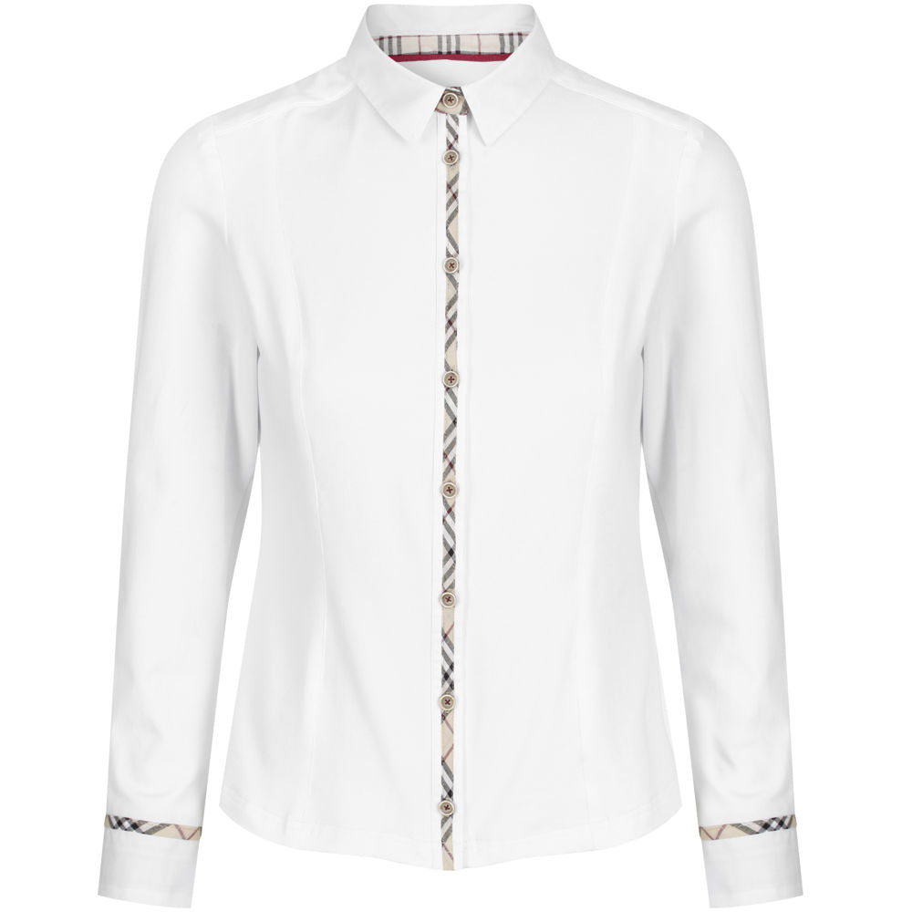 82482c87d Welligogs Pheobe fitted womens shirt with check trim