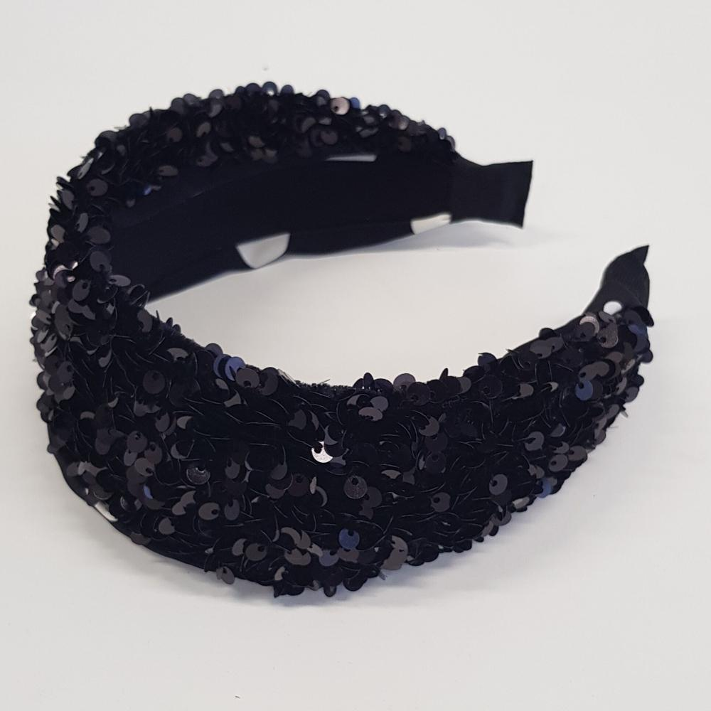 'Luna' sparkly headband black - RedMillsStore.ie
