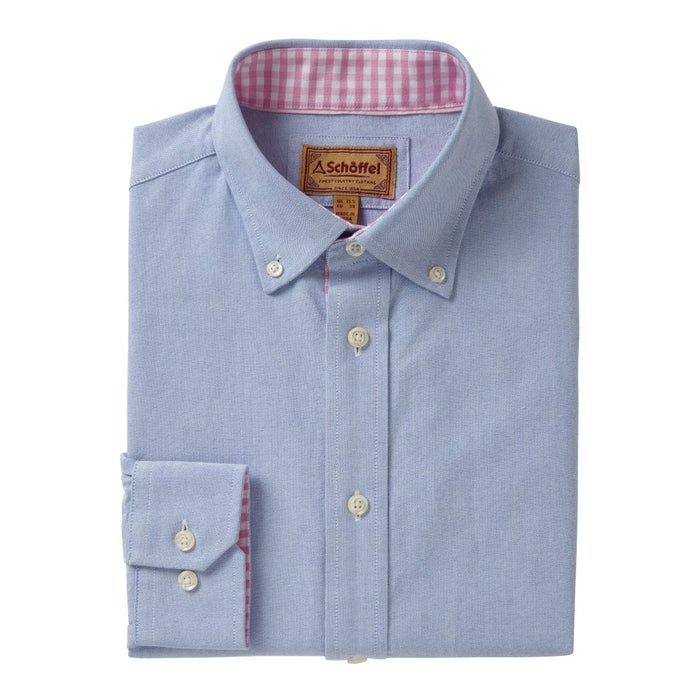 Schoffel Men's Soft Oxford Tailored Shirt Pale Blue - RedMillsStore.ie