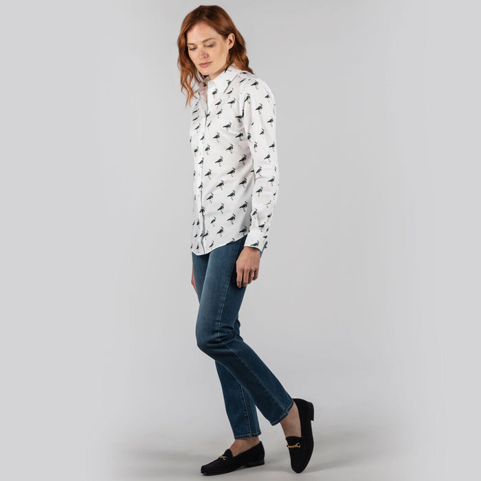 Schoffel Women's Norfolk Shirt in Lapwing Print
