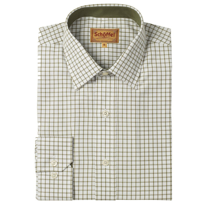 Schoffel Men's Cambridge Tailored Sporting Shirt Olive