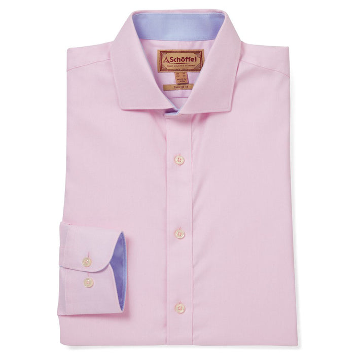 Schoffel Men's Greenwich Tailored Shirt Pale Pink Diagonal