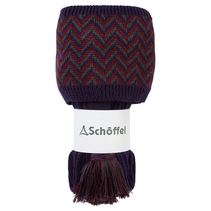 Schoffel Men's Herringbone Sock Aubergine/Forest/Mulberry