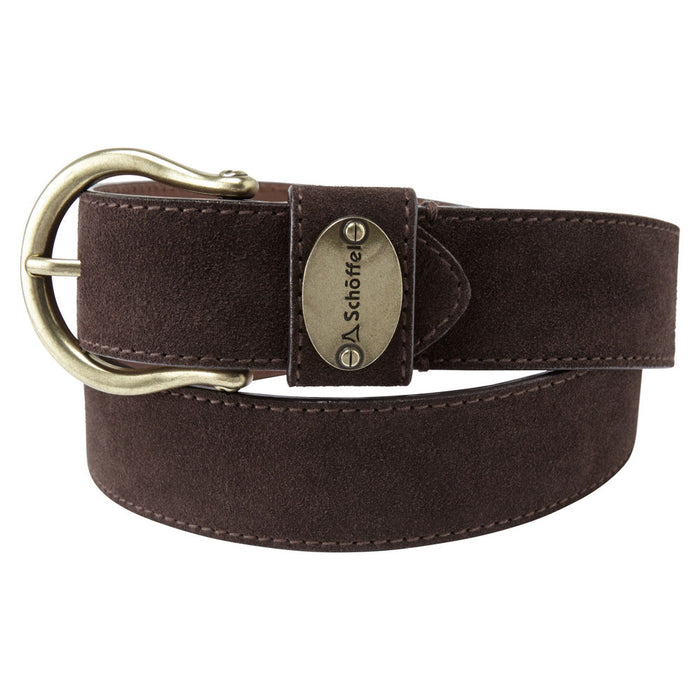 Schoffel Women's Suede Belt Dark Brown