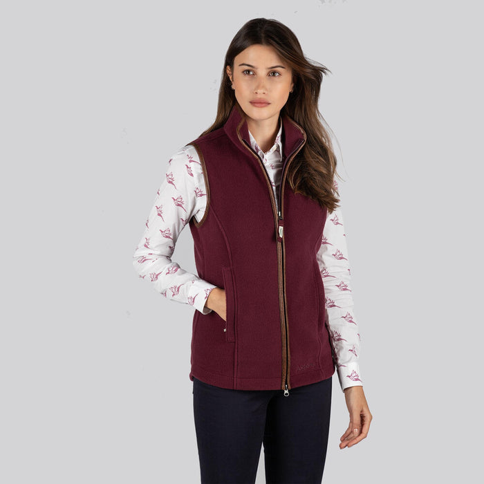 Schoffel Women's Lyndon Fleece Gilet in Fig