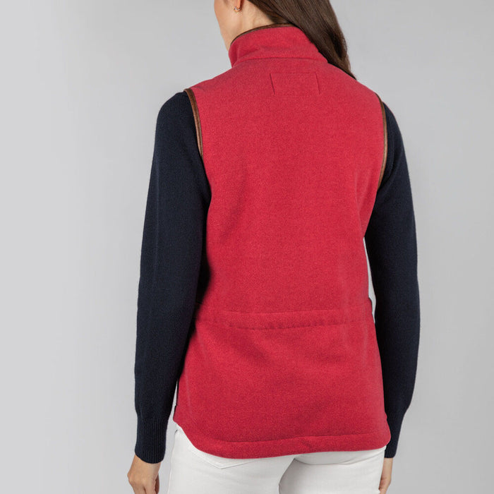 Schoffel Women's Lyndon Fleece Gilet in Pomegranate