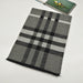 Classic check silk and wool blended scarf in grey - RedMillsStore.ie
