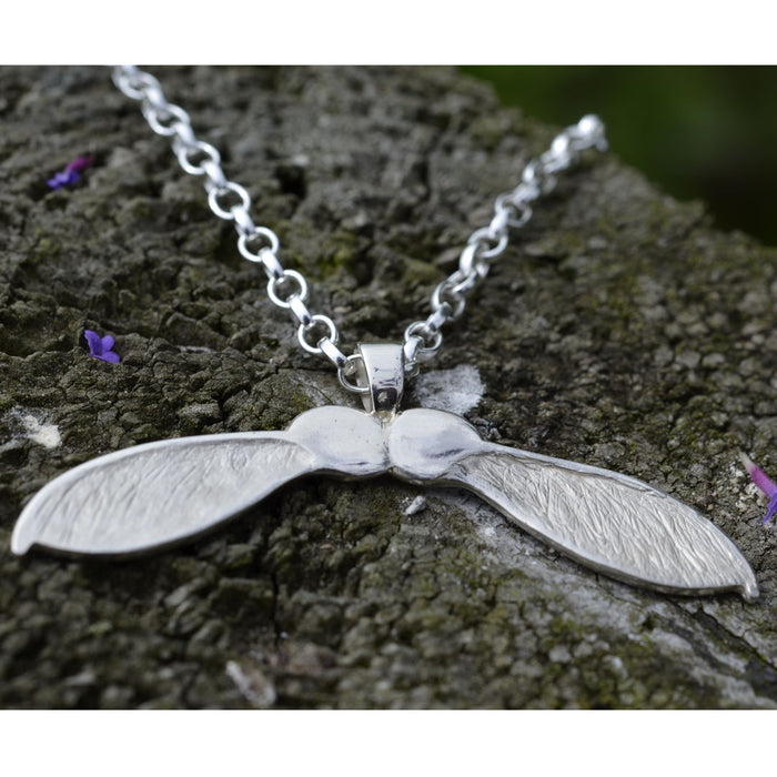 Friederike Grace double Sycamore double silver necklace - RedMillsStore.ie