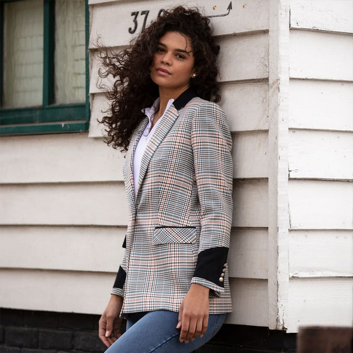 WG Women's 'Hoxton' Tailored Check Blazer