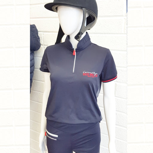 RED MILLS womens zip polo in navy - RedMillsStore.ie