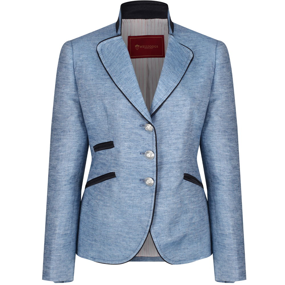 Welligogs 'Ascot' womens Jacket in blue linen