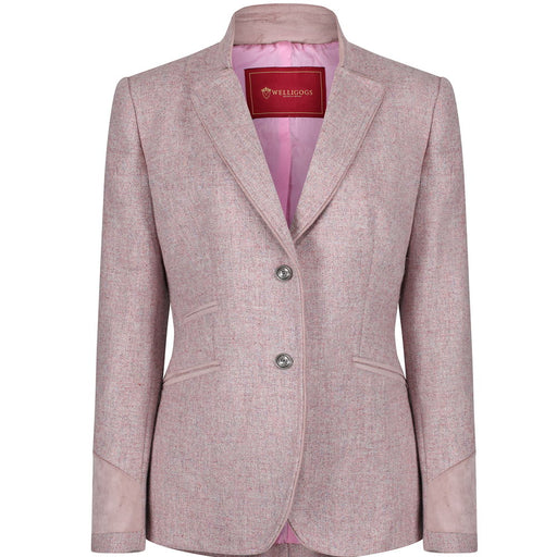 Welligogs 'Ascot' Tweed Womens Jacket in rose pink - RedMillsStore.ie