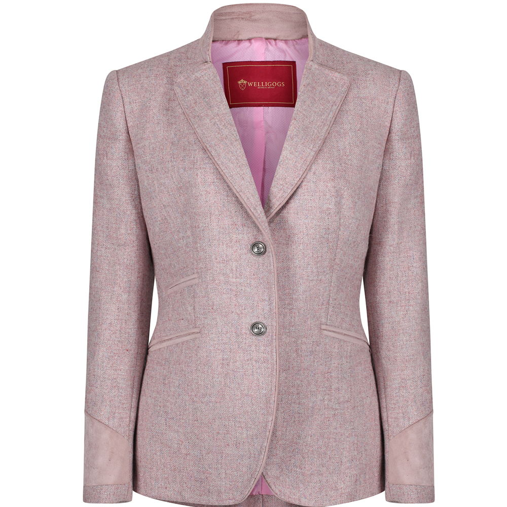 Welligogs 'Ascot' Tweed Womens Jacket in rose pink