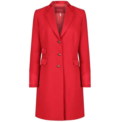 Welligogs Demelza womens fitted coat in red - RedMillsStore.ie