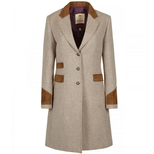 Welligogs Demelza Womens Wool Coat in chocolate - RedMillsStore.ie