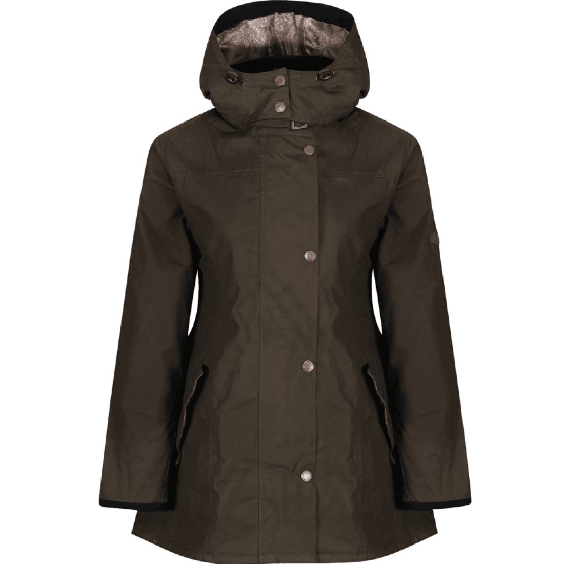 Welligogs Louise water repellent womens coat in khaki