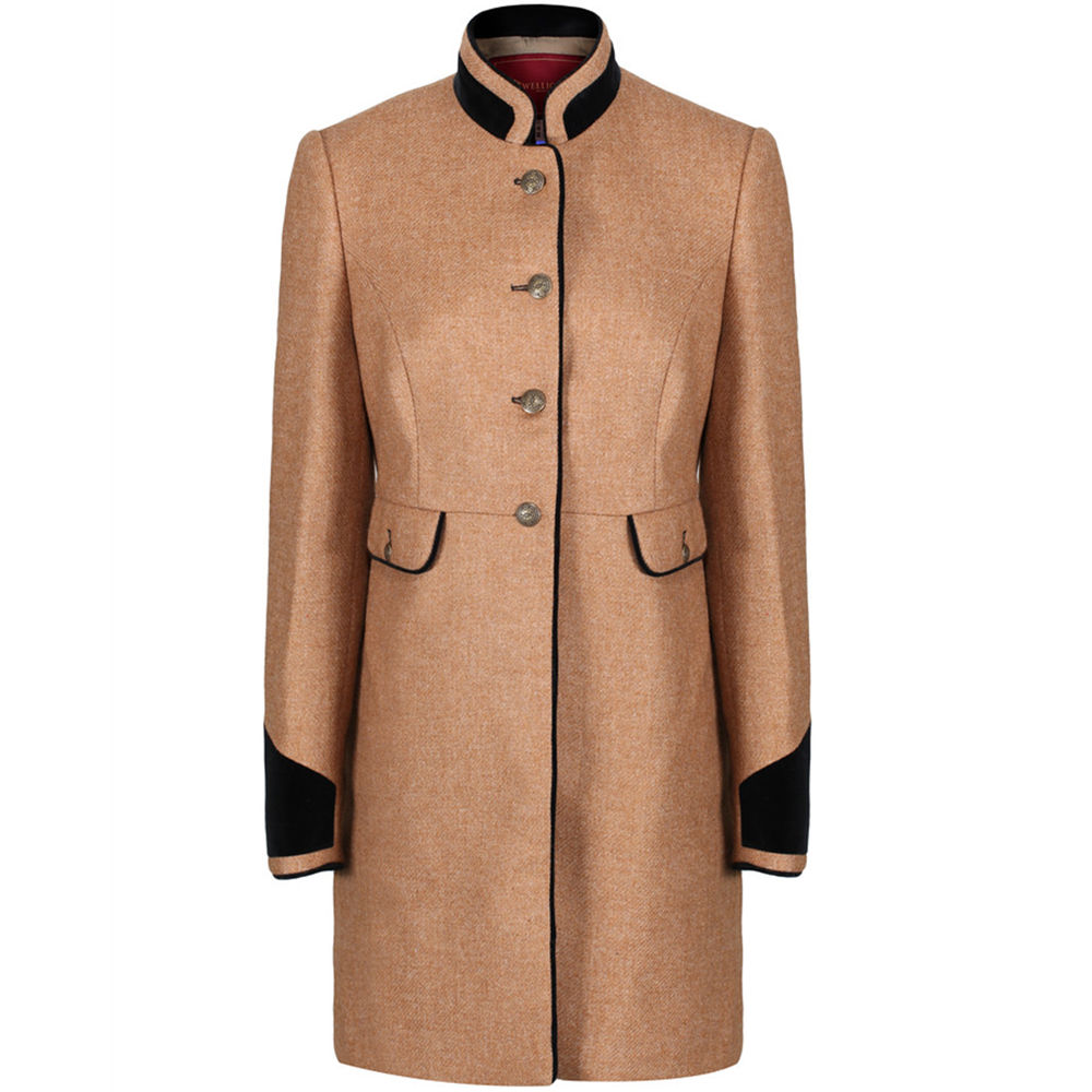 7e53e8458c5 Welligogs Savannah Wool Tweed Coat in camel