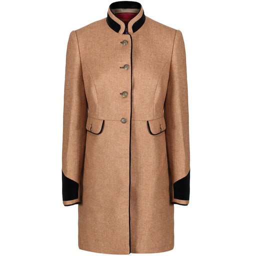 Welligogs Savannah Wool Tweed Coat in camel - RedMillsStore.ie