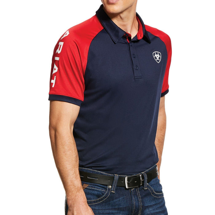 Ariat Mens Team 3.0 Polo in Navy - RedMillsStore.ie