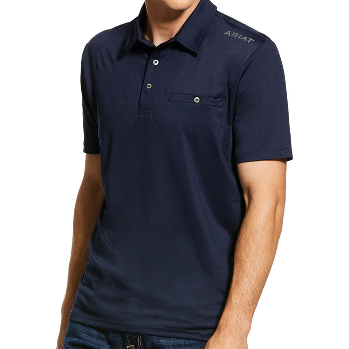 Ariat Mens Norco Polo in Navy - RedMillsStore.ie