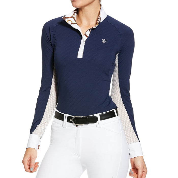 Ariat Womens Marquis Show Shirt in Navy - RedMillsStore.ie